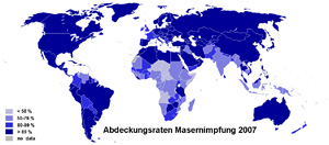 Abdeckungsrate Masern-Impfung 2007