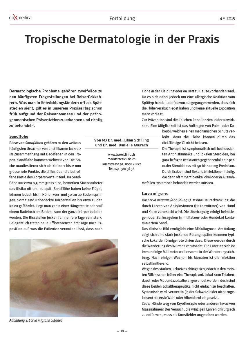 Artikel: Tropische Dermatologie in der Praxis